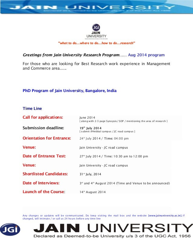 """what to do…where to do…how to do…research"" Greetings from Jain University Research Program…… Aug 2014 program For those w..."