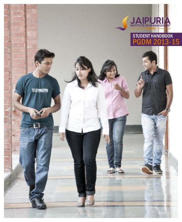 STUDENT HANDBOOK PGDM 2013-15