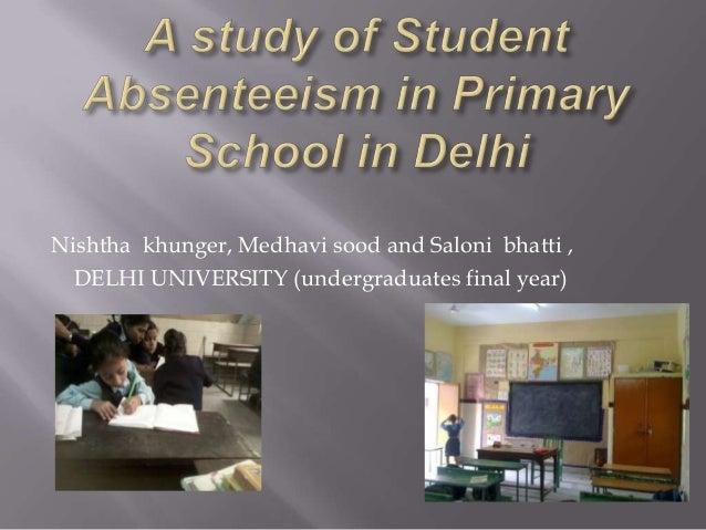 absenteeism in govt schools