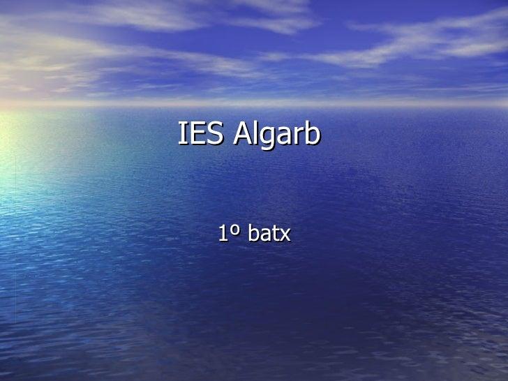 IES Algarb  1º batx