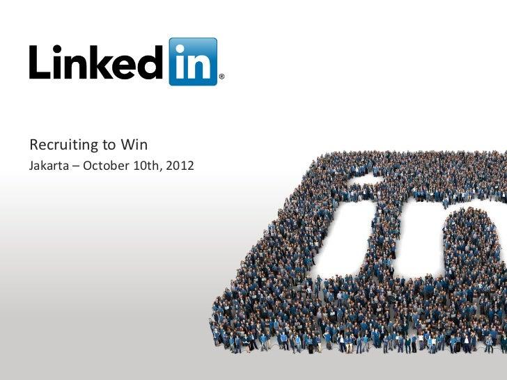 Jakarta LinkedIn Event Oct 10th 2012