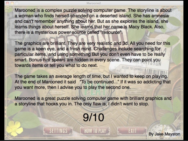 Marooned Game Review