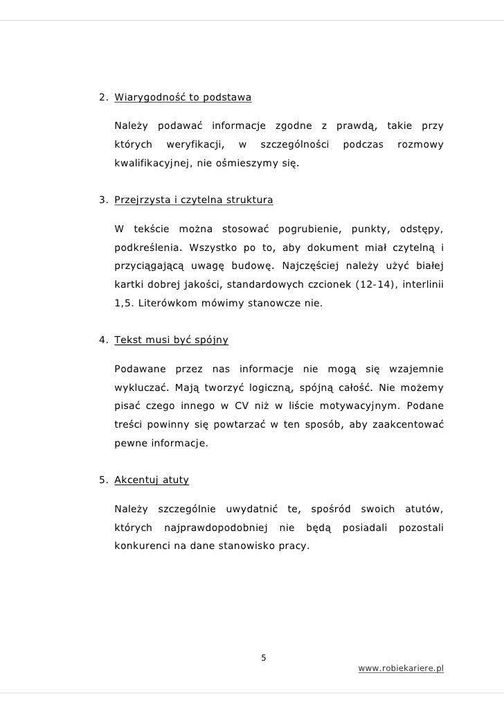 jak napisa u0107 cv i list motywacyjny
