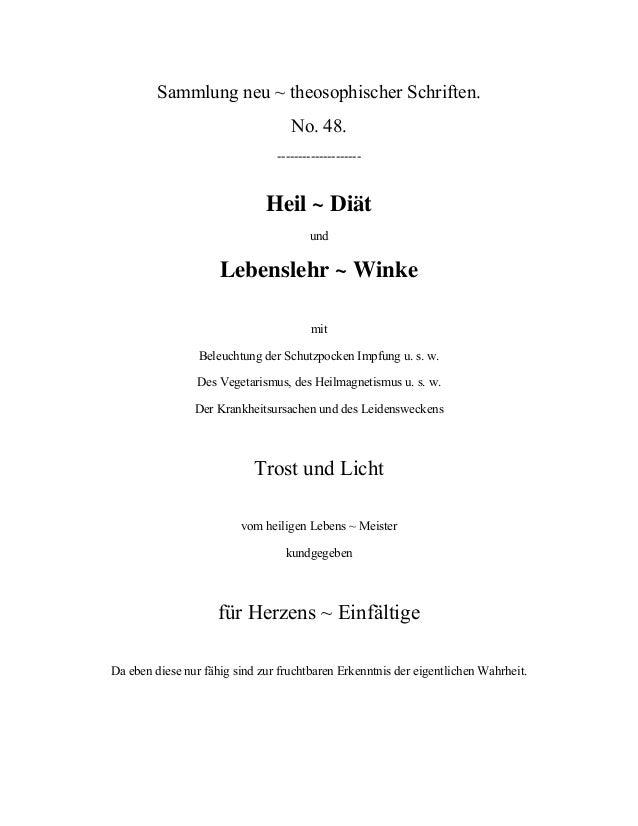 Heil und Diaetwinke (Jakob Lorber)