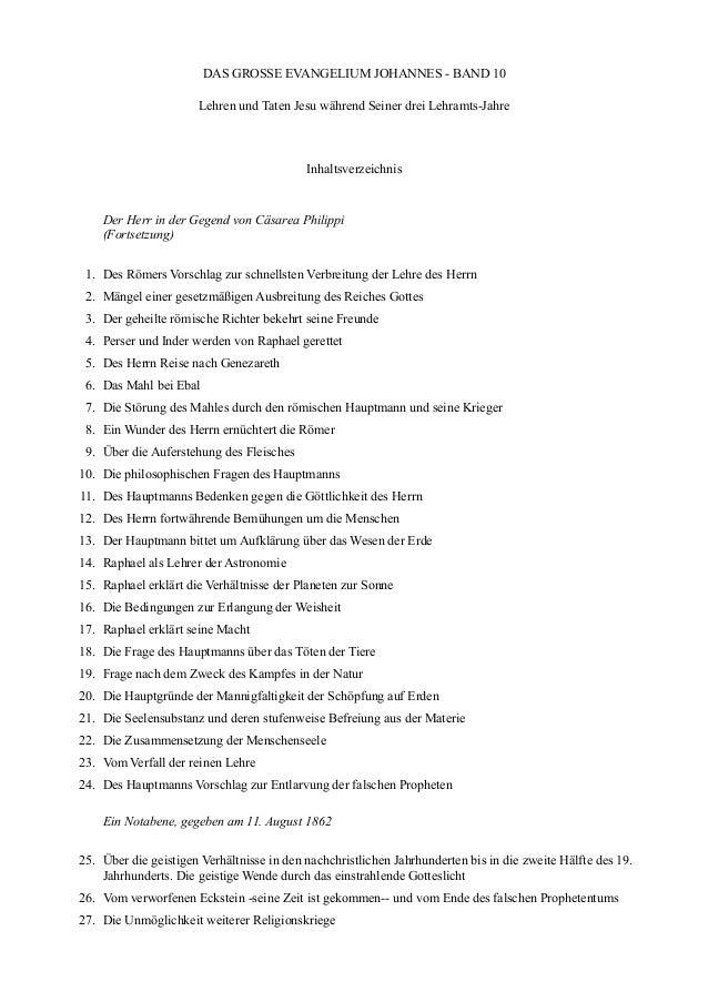 DAS GROSSE EVANGELIUM JOHANNES - BAND 10                      Lehren und Taten Jesu während Seiner drei Lehramts-Jahre    ...