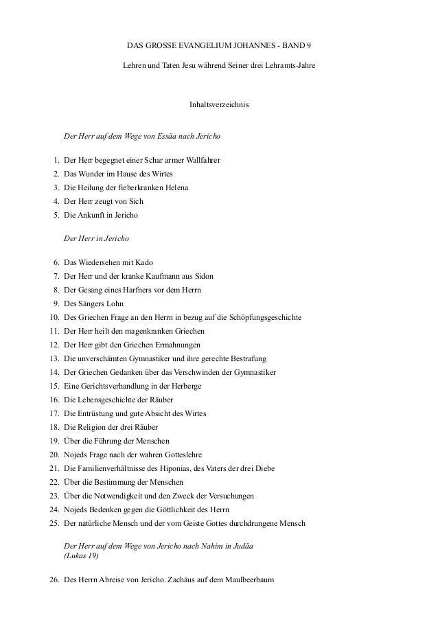 DAS GROSSE EVANGELIUM JOHANNES - BAND 9                      Lehren und Taten Jesu während Seiner drei Lehramts-Jahre     ...