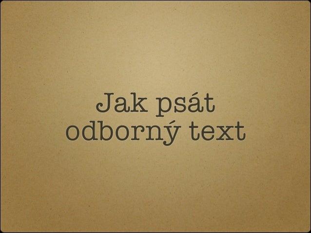 Jak psát text