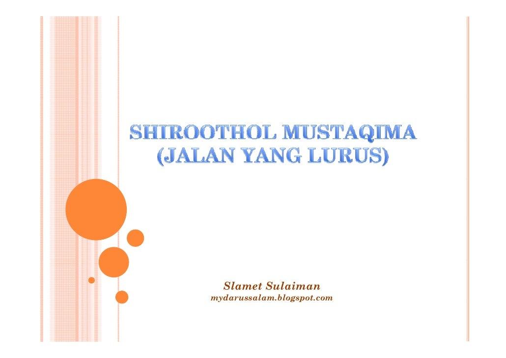 Slamet Sulaiman mydarussalam.blogspot.com  y              g p