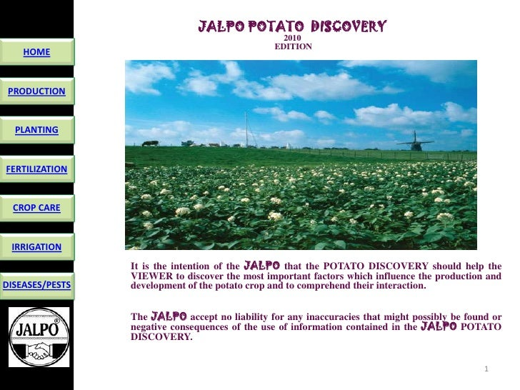 JALPO POTATO DISCOVERY                                                   2010                                             ...