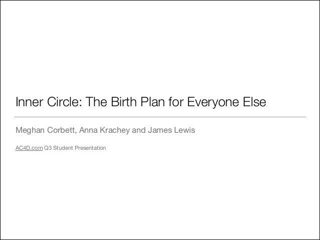 Inner Circle: The Birth Plan for Everyone Else Meghan Corbett, Anna Krachey and James Lewis  ! AC4D.com Q3 Student Present...