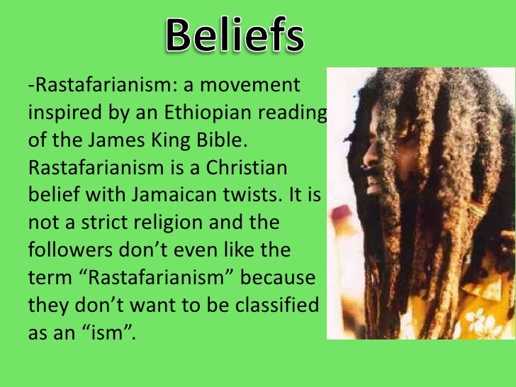 rastafarianism beliefs and rituals essay Help essay on caribbean religion the pirate and trading culture brought in eastern religions like buddhism and the rastafarian belief system.