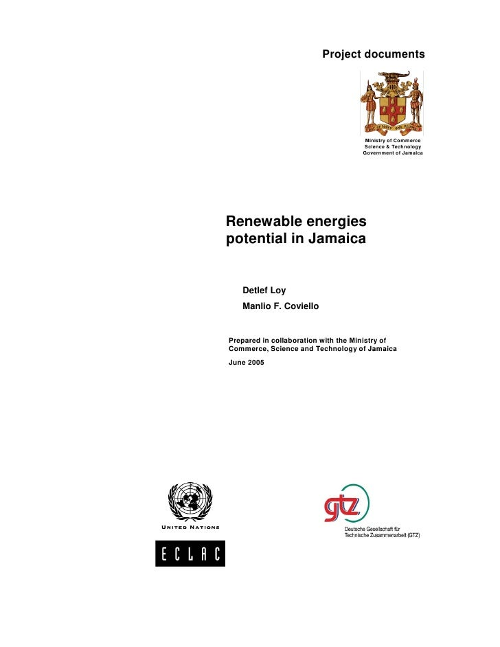 Renewable Energies Potential in Jamaica