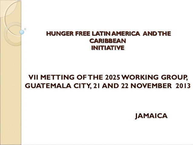 HUNGER FREE LATIN AMERICA AND THE CARIBBEAN INITIATIVE  VII METTING OF THE 2025 WORKING GROUP, GUATEMALA CITY, 21 AND 22...