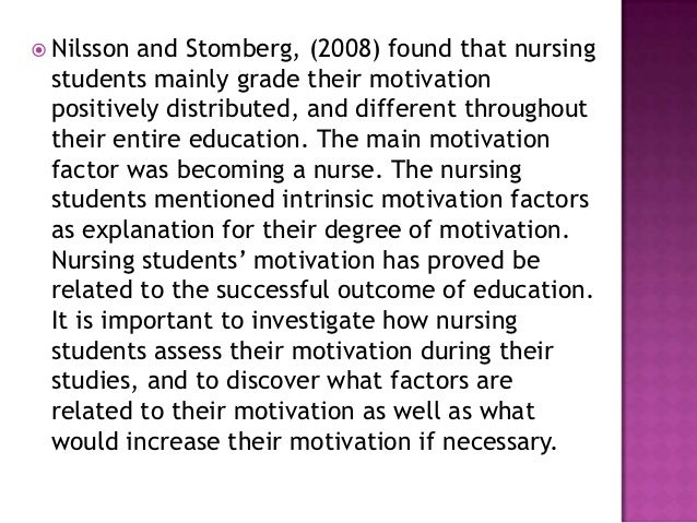 "factors for motivation at work in nursing Several studies also showed that ""motivation"" is an important factor that  influences nurses' job satisfaction[10] and their intention to work[7,11,12]  motivated and."