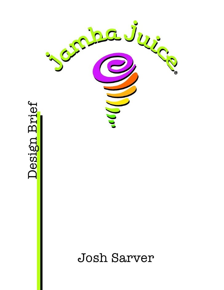 Jamba Juice Design Brief and Campaign