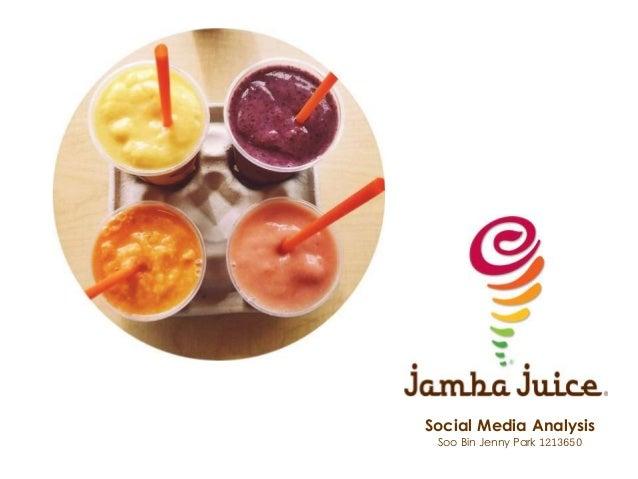 Social Media Analysis Soo Bin Jenny Park 1213650