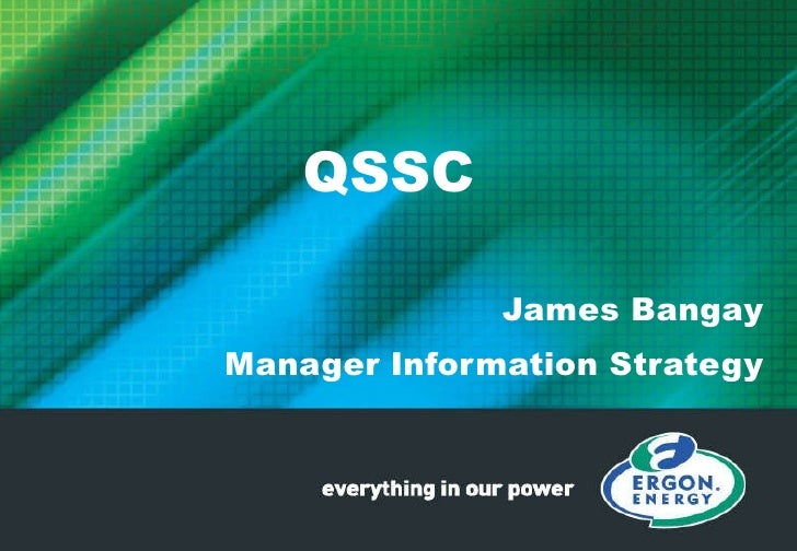 QSSC James Bangay Manager Information Strategy
