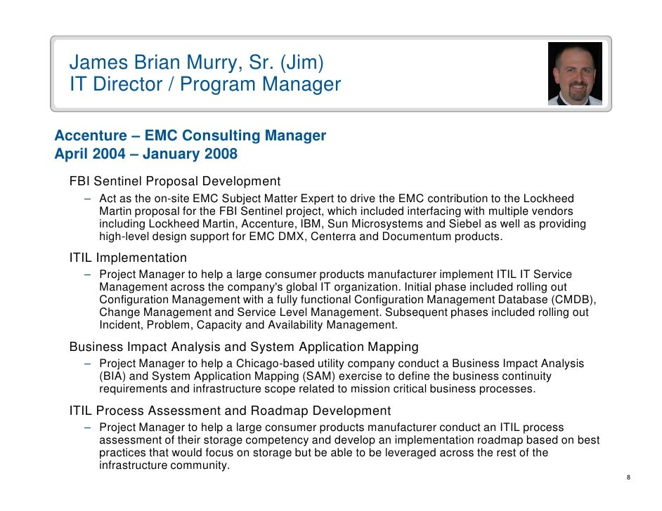 b murry resume presentation feb2009