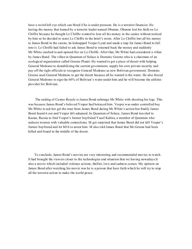bond essay