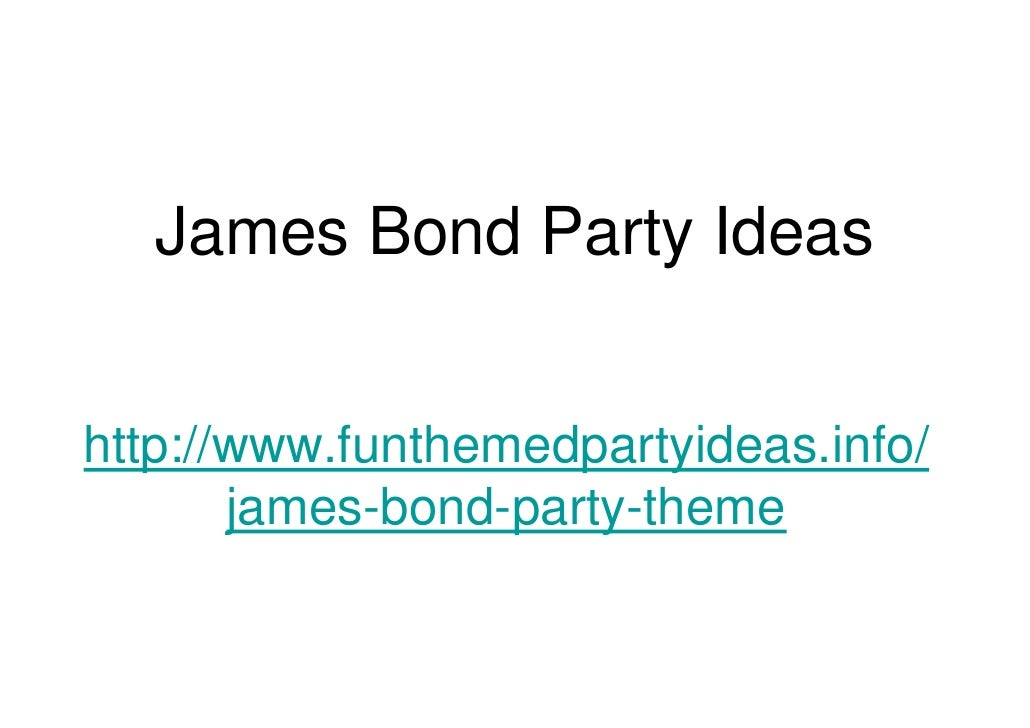 James bond party ideas – 007 Party Invitations