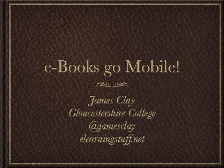 e-Books go Mobile!