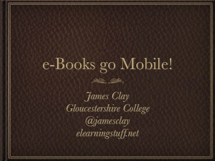 e-Books go Mobile!