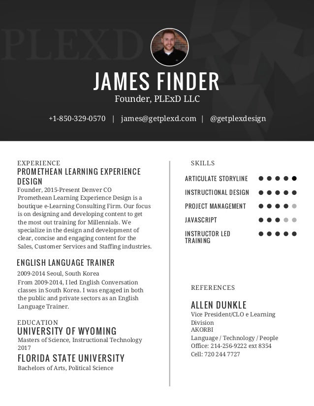 JAMES FINDERPROMETHEAN LEARNING EXPERIENCEDESIGNEXPERIENCEFounder ...