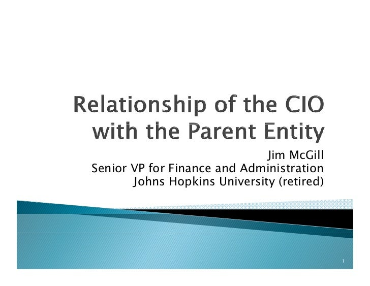 Exploring the Role of the Endowment within the Parent Institution's Overall Financial Risk Management Strategy - Presentation: James T. McGill, Johns Hopkins University - North American Investors Summit