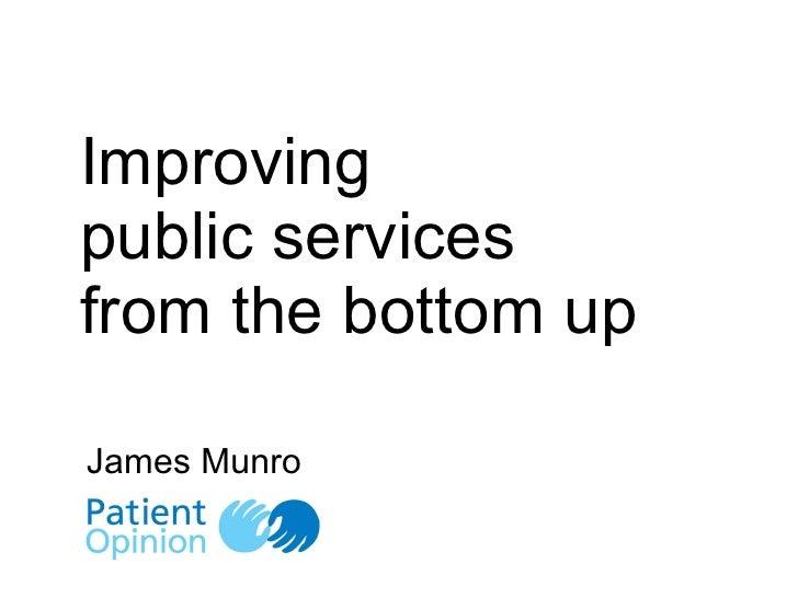 James munro   patient opinion