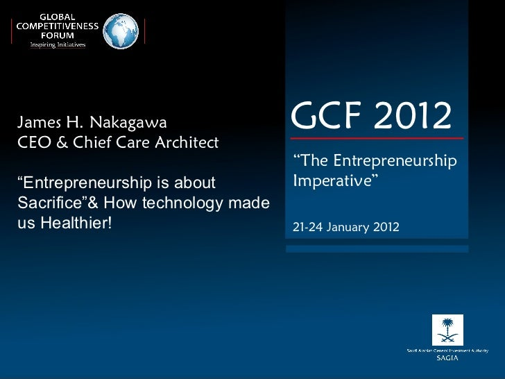 "James H. Nakagawa  CEO & Chief Care Architect "" Entrepreneurship is about Sacrifice""& How technology made us Healthier! GC..."