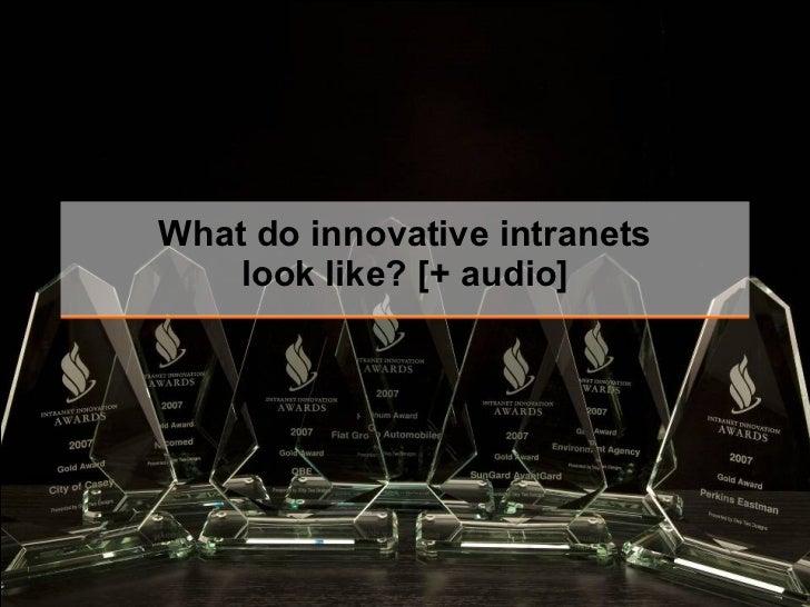 What do innovative intranets look like? [+ audio]