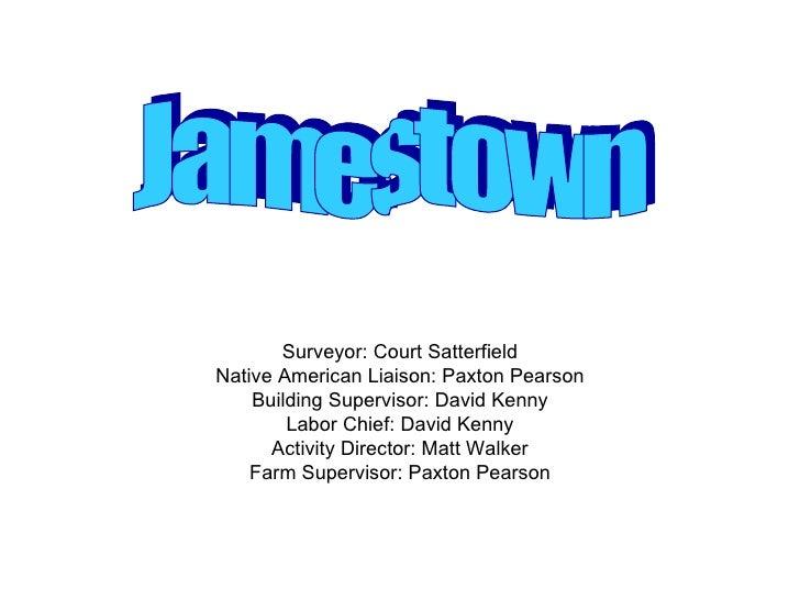 Surveyor: Court Satterfield Native American Liaison: Paxton Pearson Building Supervisor: David Kenny Labor Chief: David Ke...
