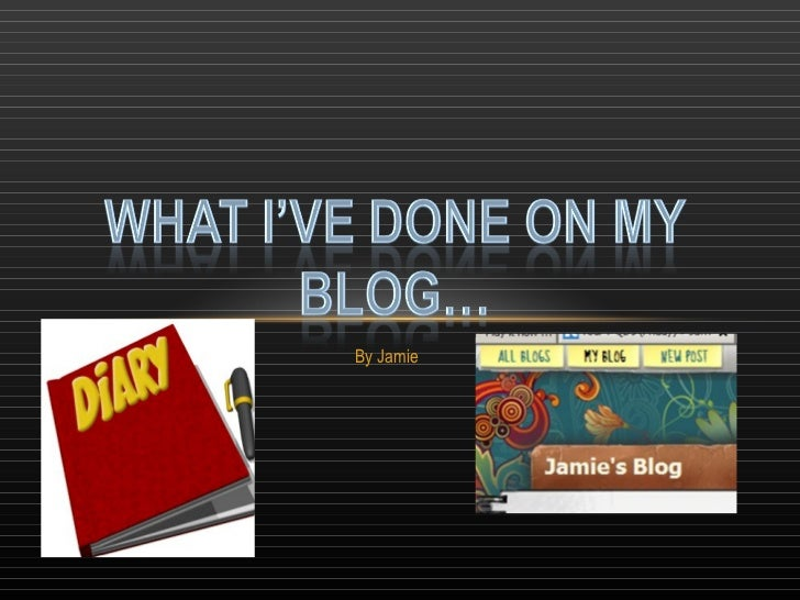 My blog so far
