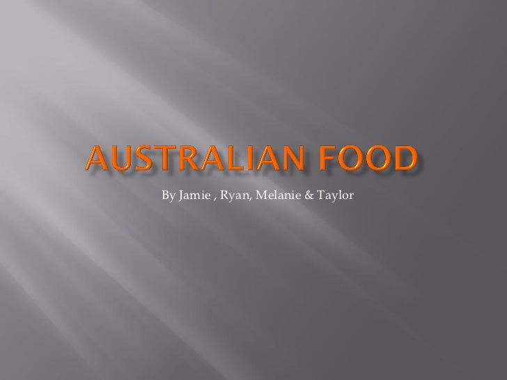 Jamie green australalian food