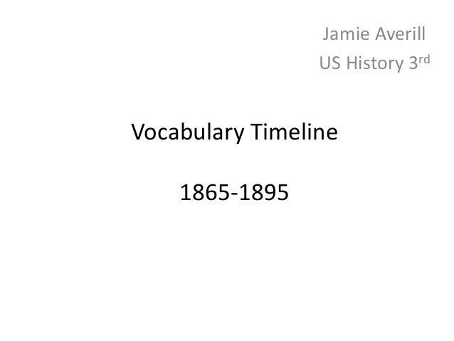Jamie Averill - Vocabulary Timeline