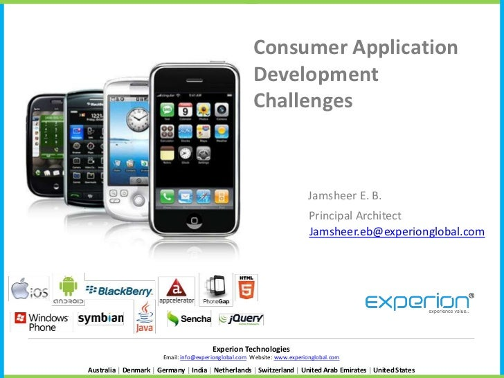 Consumer Application                                                      Development                                     ...