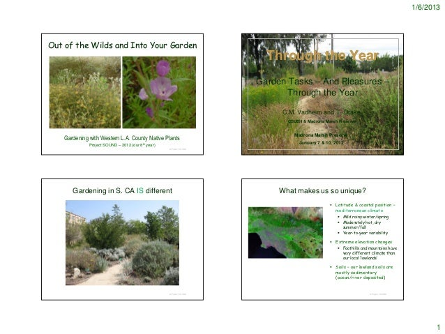 Garden Tasks Through Year - Notes