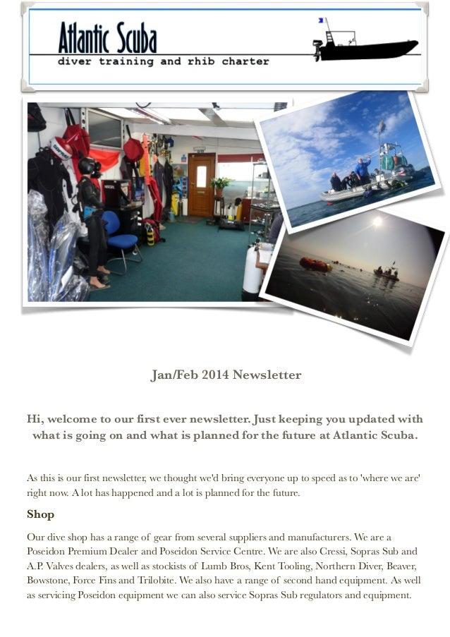 Jan/Feb 2014 Newsletter   Hi, welcome to our first ever newsletter. Just keeping you updated with what is going on and wha...