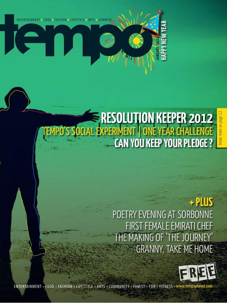 Tempo magazine January 2012