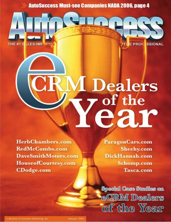 AutoSuccess Must-see Companies NADA 2006, page 4a division of Systems Marketing, Inc.   January 2006