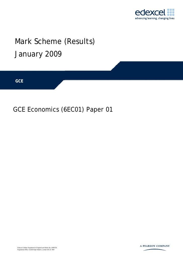 Jan 09 Mark Scheme