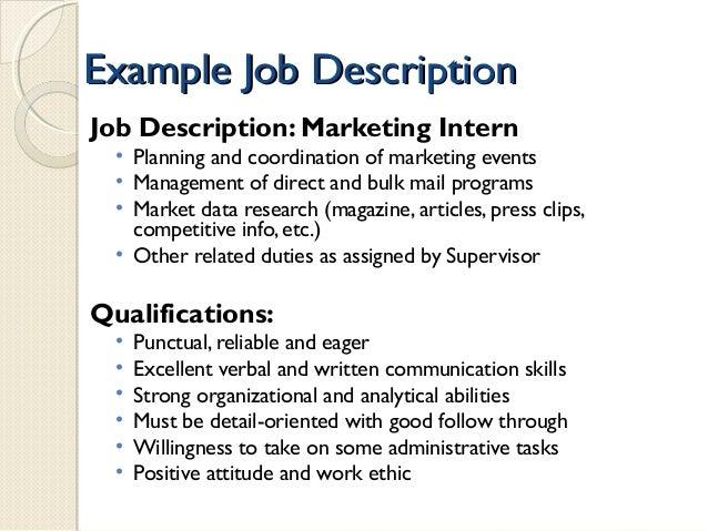Marketing Intern Social Media Job Description Cool Content For