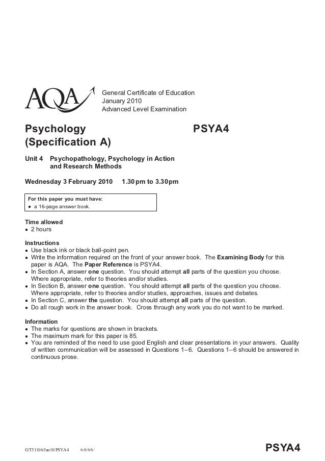 General Certificate of Education                                  January 2010                                  Advanced L...