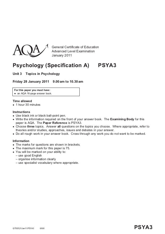 General Certificate of Education                                 Advanced Level Examination                               ...
