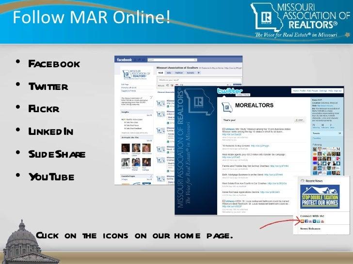 Follow MAR Online! <ul><li>Facebook </li></ul><ul><li>Twitter </li></ul><ul><li>Flickr </li></ul><ul><li>LinkedIn </li></u...