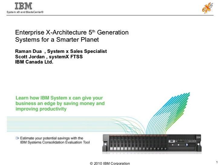 Enterprise X-Architecture 5 th  Generation Systems for a Smarter Planet Raman Dua  , System x Sales Specialist  Scott Jord...