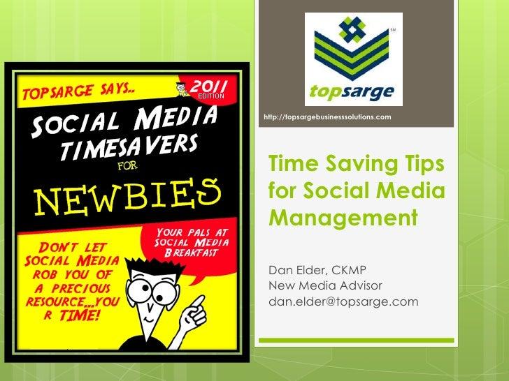 Timesaving Tips for Social Media Management