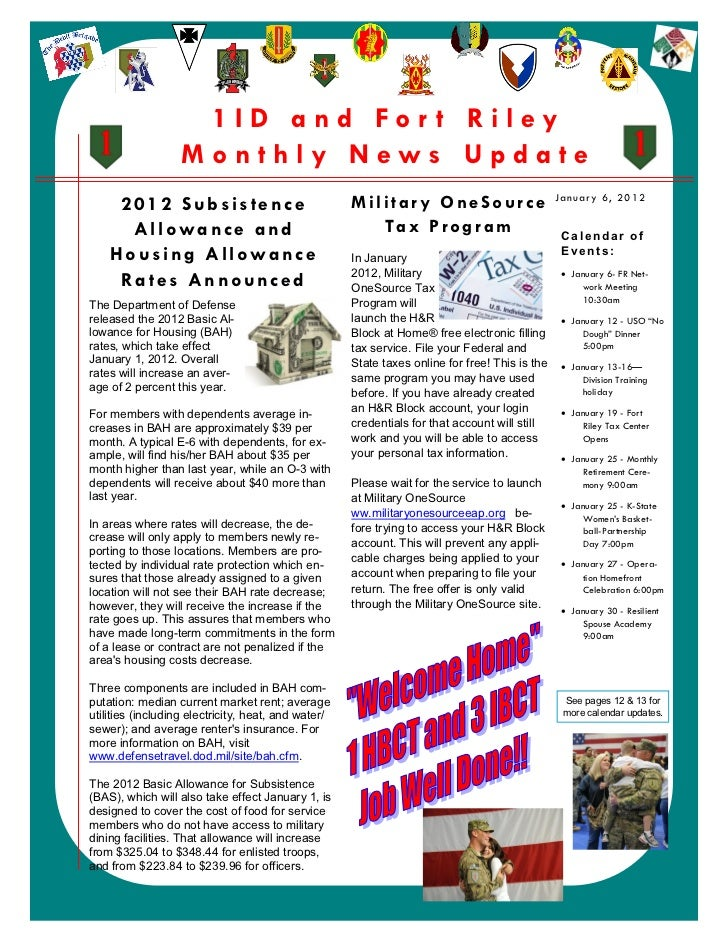Jan 2012 1 ID Fort Riley Monthly Newsletter