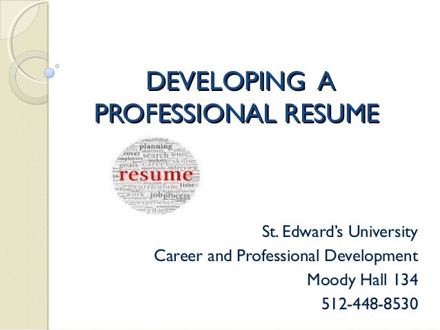 resume writing workshop presentation selling yourself resumes