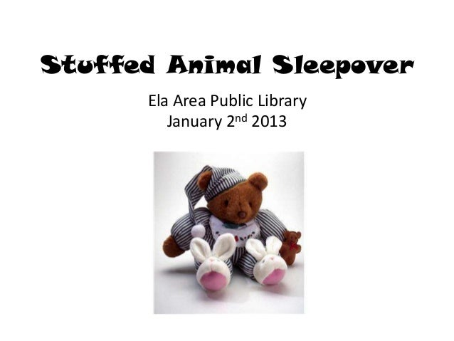 Stuffed Animal Sleepover      Ela Area Public Library         January 2nd 2013